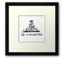 Girl cycling Framed Print