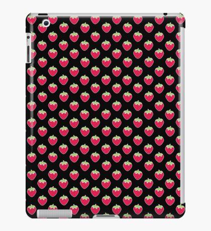 Strawberry Delight Black iPad Case/Skin