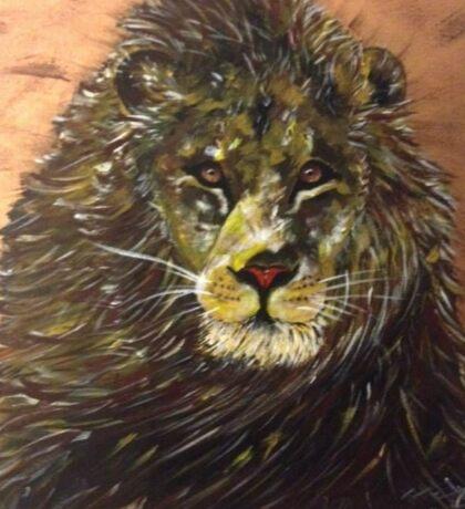Majesty - African male lion Sticker