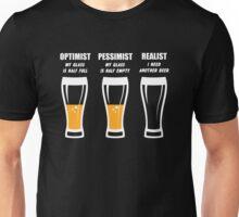 Realist Beer Glass Mens Funny T Shirt  Unisex T-Shirt