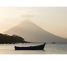 Sunset over Volcan Concepcion Photographic Print