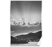 Dubrovnik Beams BW Poster