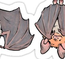 Three greater mouse-eared bats Sticker