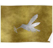 Grunge Hummingbird Poster
