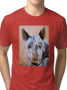 English Bull Terrier dog Tri-blend T-Shirt