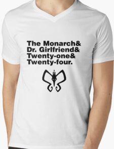 Team Monarch Mens V-Neck T-Shirt