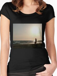 Lonely walk Women's Fitted Scoop T-Shirt