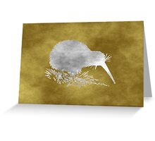 Grunge Kiwi Bird Greeting Card