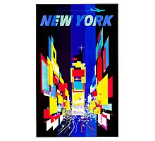 New York Vintage Travel Poster Photographic Print
