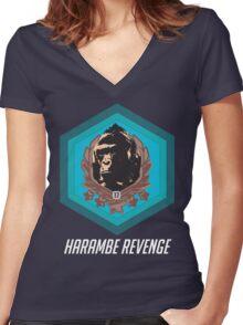 Harambe - Harambe Revenge Overwatch Women's Fitted V-Neck T-Shirt