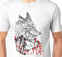 Angry Wolf Sketch Unisex T-Shirt