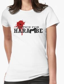 HARAMBE - Justice For Harambe Womens Fitted T-Shirt