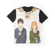 Orange - Naruse Kakeru & Takamiya Naho Graphic T-Shirt