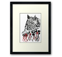Angry Wolf Sketch 2 Framed Print