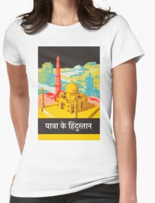Vintage Travel Poster - India Womens Fitted T-Shirt