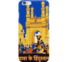 Vintage Travel Poster - India iPhone Case/Skin
