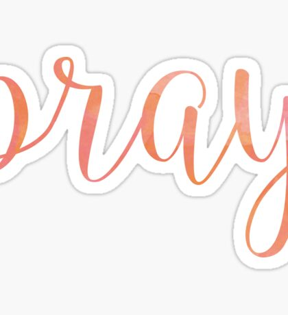Pray Sticker