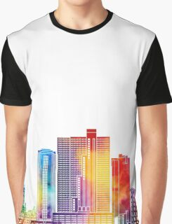 Fort Worth landmarks watercolor poster Graphic T-Shirt