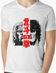 Kenshiro and Raoh Mens V-Neck T-Shirt