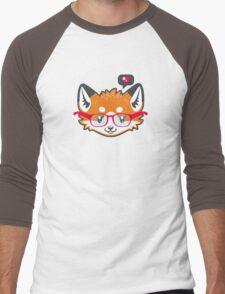 Nerdy Knitwear FOX - head only Men's Baseball ¾ T-Shirt