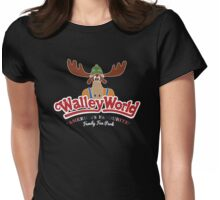 Walley World - America's Favourite Curved White Moose Logo Womens Fitted T-Shirt