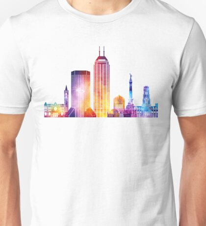 Indianapolis landmarks watercolor poster Unisex T-Shirt