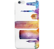 Indianapolis landmarks watercolor poster iPhone Case/Skin