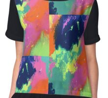 Colourful painting  Chiffon Top