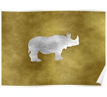 Grunge Rhino Poster