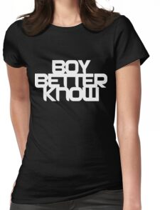 Boy Better Know - Chest Placement (white) Womens Fitted T-Shirt