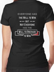The Will to Win BJJ Shirt Black Women's Fitted V-Neck T-Shirt