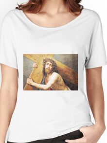 Jesus Holding the Cross Women's Relaxed Fit T-Shirt