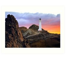 Castle Point - Wellington - NZ Art Print