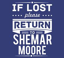 If Lost Please Return To Shemar Moore T-Shirt Womens Fitted T-Shirt