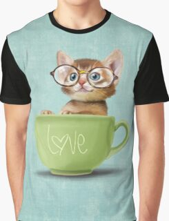 Kitten in a big cup Graphic T-Shirt