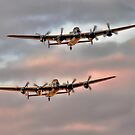 Two Lancasters in an Evening Formation by Colin Smedley