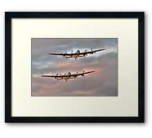 Two Lancasters in an Evening Formation Framed Print