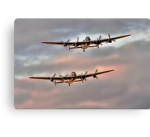 Two Lancasters in an Evening Formation Canvas Print