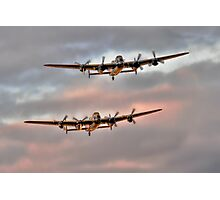 Two Lancasters in an Evening Formation Photographic Print