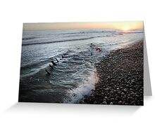 Sunrise Shipwreck Greeting Card