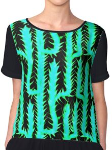 Cactus, green, desert, pattern design, sample, ornaments, nature,  Chiffon Top