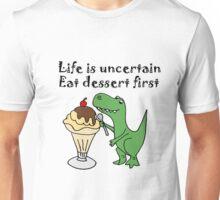 Funny T-Rex Eating Ice Cream Unisex T-Shirt