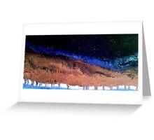 Earth's Dark Night Greeting Card
