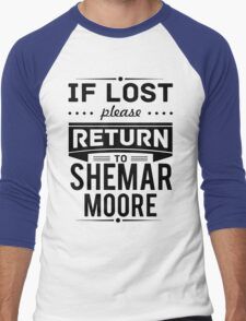 If Lost Please Return To Shemar Moore Funny T-Shirt Men's Baseball ¾ T-Shirt