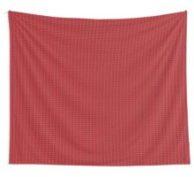 Red knitted pattern.  Wall Tapestry
