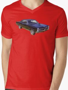 Black 1967 Pontiac GTO Muscle Car Mens V-Neck T-Shirt