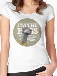 Ostrich. I'm the Boss!  Women's Fitted Scoop T-Shirt