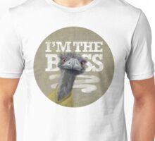 Ostrich. I'm the Boss!  Unisex T-Shirt