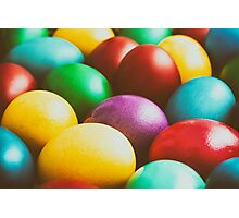 Colorful Easter Eggs In Basket Photographic Print