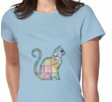Collage Patchwork Cat Womens Fitted T-Shirt